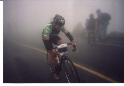 Jeff Aronis riding Mt. Washington